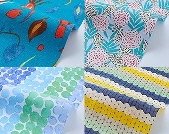 On sale Assorted Blue Colorful Fabric  Bundle  H30cmxW50cm Cut x 7    collabocca Re:1960 TK-11-1