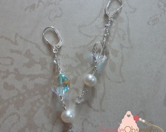 Swarovski Crystal Cosmic & Pearl Earrings