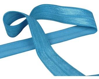 Bright Sea Blue Fold Over Elastic (E58BL5-5)