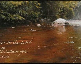 Christian Wall Art - Cast Your Cares On The Lord