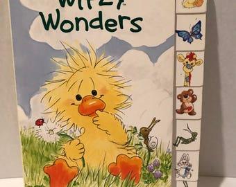 "Vintage ""Witzy Wonders"" Suzy Zoo Board Book! Tab Book!"