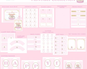 CAROUSEL Printable Party Decor Package