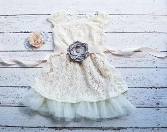 Flower Girl Dresses,Boho flower girl dress, Champagne flower girl dress, Bohemian Weddings,Bohemian Flower Girl Dress,Champagne Boho Dress