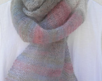 SUMMER SHAWL PATTERN Womens Scarf Shawl Knitting Pattern 50th Birthday Gift Bestfriend Gift for Women Present for Mother Graduation Gift
