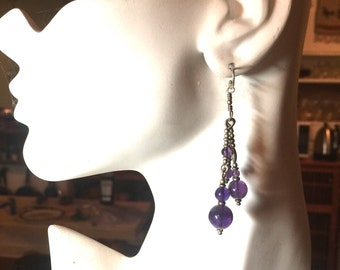 Amethyst Dangle Earrings Kate Drew-Wilkinson Personal Collection
