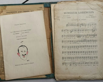 More set of 15 pieces of sheet music and 1 small vintage booklet