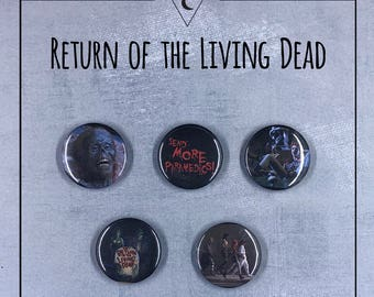 "The Return of the Living Dead 1985 1"" Button Set ‧ Cult film ‧ Zombies ‧"