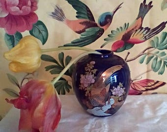 Two Japanese Vases and a Dresser/Trinket Box