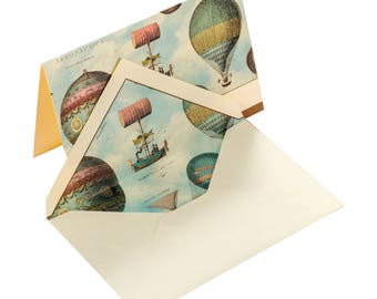 Montgolfiere - Italian note cards with envelope in box