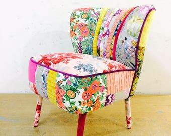 50's Clubchair - flowery