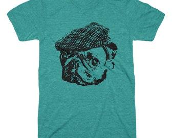 Pug Tshirt - Pug Shirt - Mens T Shirt - Pug Face Pug Lover Pug Gifts - Gifts For Him Boyfriends Husbands Dad Funny Animal Tees Irish Tshirts
