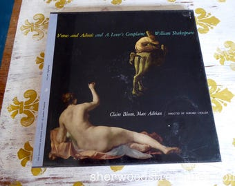 Sealed Venus and Adonis SHAKESPEARE  1962  2 Lp Vinyl Record Box Claire Bloom Max Adrian SRS 240