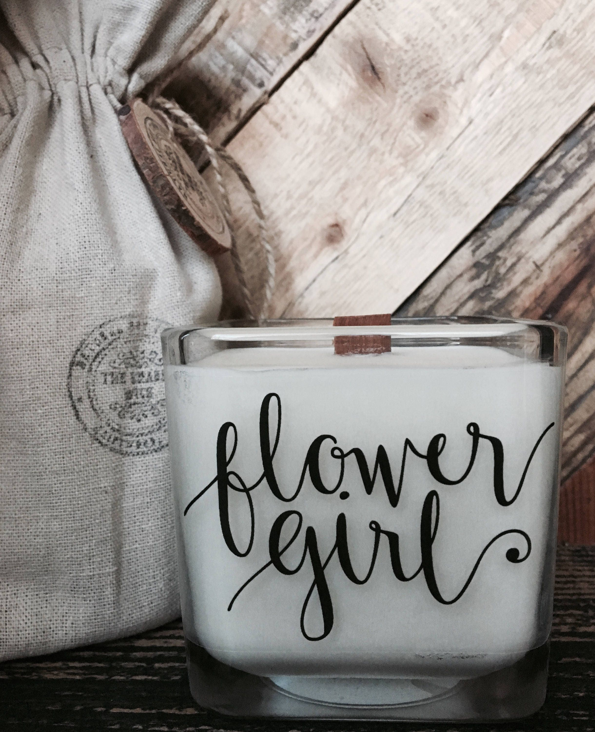 Flower Girl Candle Flower Girl Gift Flower Girl Proposal Candle