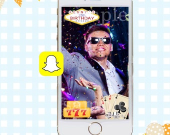 Snapchat GeoFilters, Birthday Snapchat Filters, Party Snapchat Filter, Vegas Snapchat GeoFilter, Vegas Birthday Party, Poker Geofilter
