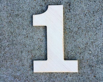 16 inch wooden numbers