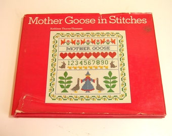 Mother Goose In Stitches By Kathleen Thorne - Thomsen Vintage Craft Book