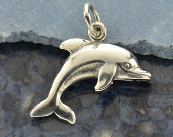 Sterling Silver Dolphin Charm Fish Sea