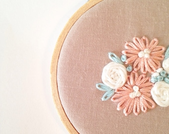"3"" Floral Embroidery Hoop"