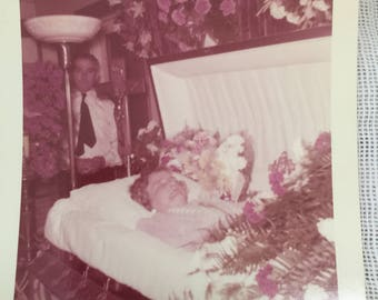 Vintage 1955 Post Mortem Photo of Woman Ogdensburg New Jersey