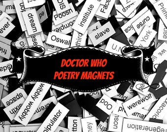 Doctor Who Magnetic Poetry / Fridge Magnet / Doctor Who Gifts / Doctor Who Quotes / Geeky / Housewarming Gift / Doctor Who Toys / Dr Who