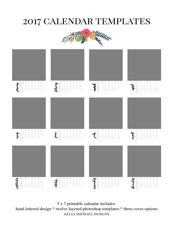 Calendar Template Photoshop Vatozozdevelopment