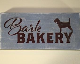 Bark Bakery Engraved Wooden Sign | Kitchen Decor