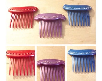 Beautiful Vintage Hair Combs, French Hair Accessories, Hair Comb
