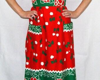 1960s SEARS Long Maxi Dress Size 8 Sleeveless