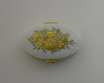Hand Painted Limoges Style Trinket Box