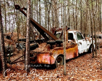 1960s Chevy tow truck Truck in the Woods Photograph