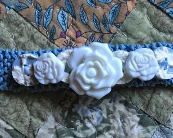Vintage Bracelet, Hemp Bracelet, Broken China Bracelet, Button Bracelet