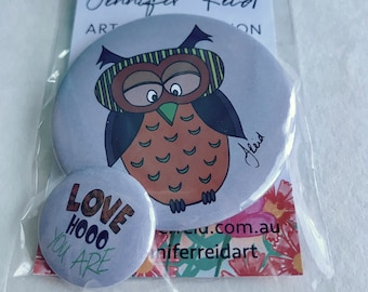 Love Hooo You Are Owl Button Pack