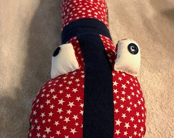 Red White Stars Baby Pillow Snake