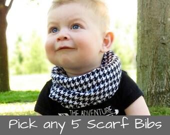 Baby Bib Scarf Drool Scarf Bib Toddler Scarf Bib Toddler Bib Scarf Bandana Scarf Infinity Scarf Bib Drool Scarf Baby Drool Bib Scarf
