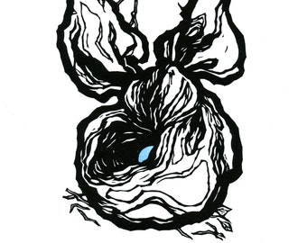 "Hand-pulled Linocut - ""Nest I"""