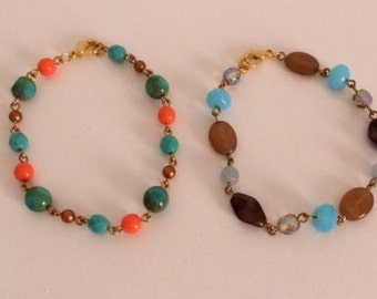 Bracelets of different color Rosary chain Choker.