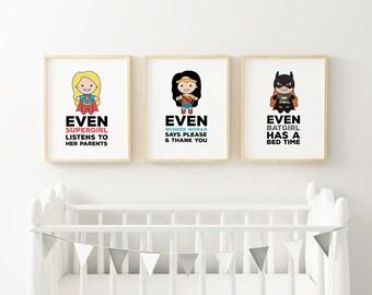 Superheroine Trio Print Pack