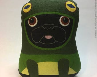 Frog Costume - Small Pug-Guise Plush