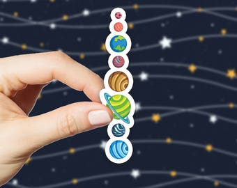 Planets Sticker, Universe Stickers, Galaxy, Solar System, Stars Stickers, Vinyl Stickers, Laptop Stickers, Car Stickers, S188