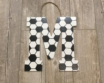Soccer Letters, soccer gifts, soccer wall decor, soccer team, soccer monogram, soccer decor, soccer ball letters, sports party, sports decor