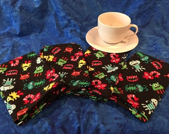 Mommy's Monsters cloth napkins (set of 4)