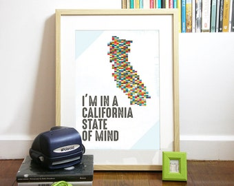 State Poster typography Poster simple and clean design with typographic Poster print US state Poster california poster New York Poster