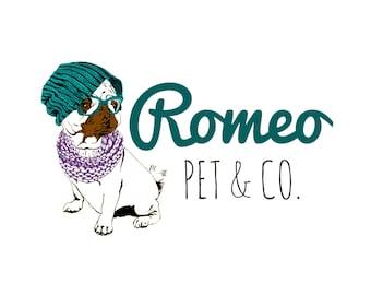 Pets Logo, Dogs Logo, Sketch Logo, Custom Logo Design, 3 Logo Concepts, Business Logo, Royal Logo, Boutique Logo