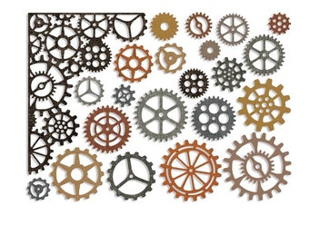 Sizzix - Tim Holtz Alterations - Thinlits - Gearhead Die Set 22 Pack