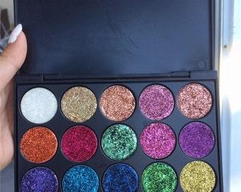 Lighten pressed glitter palette