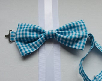 Bowtie - Baby, Toddler, and Little Boy Blue Gingham Bowtie