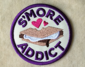S'more Addict Iron On Patch