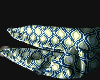 Blue Wave Cloth/Practice Poi~Sock Poi~Choose length~Ball Weights Included!