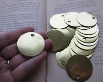 5 Brass 1.5 Inch Discs - 18 Gauge