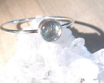 Labradorite Ring, Sterling Silver Stacking ring, Labradorite stacking ring, Silver Labradorite ring, gemstone ring, silver stacking ring